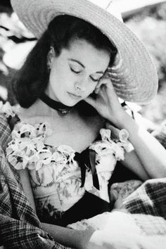 Vivien Leigh resting on the set of Gone With the Wind (1939)