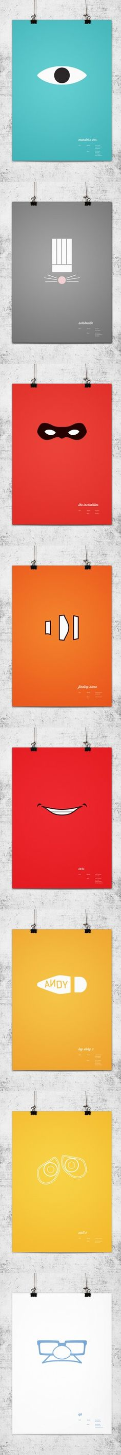 Can you guess the Pixar movie from these minimalist posters?