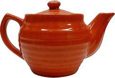 Orange Bauer Teapot