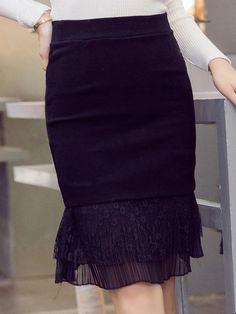 c089ea5a3f4 Flounce Elegant Paneled Plus Size Skirt Waist Skirt