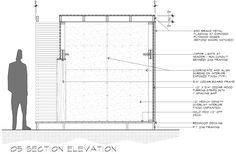 Lantern Playhouse 05 Section Elevation designed by Dallas architect Bob Borson
