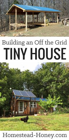 Interested in building an off the grid tiny house? I've collected all of my articles about building our tiny home in one place, so anyone interested in small-scale construction can follow our process from beginning to end. | Homestead Honey