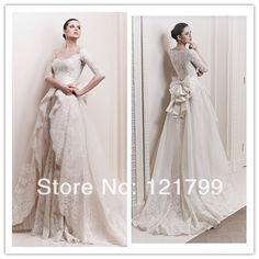 格安の, 中国の卸売業者から直接購入する: あなたのような5月aslo新しい到着のvネックヴィンテージレースの長い袖のウェディングドレス背中が大きく開い2014年vestidoドnoiva私達189.99ドル/pieceエレガントなファッション2014年ラインホルターのウェディングドレスの弓の床の長さロングレースの花嫁のカスタムメイドvestidoドnoiva私達205.99ドル/pieceセクシーなオープンバックのウェディングドレスの冬2