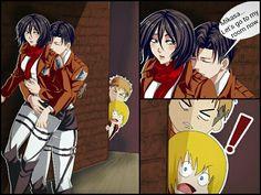 Traducción: Mikasa, vamos a mi habitación ya 7ww7 levimika and shingeki no kyojin Rivamika love  Levi x Mikasa  Ackermans  Shingeki No Kyojin  Anime Attack on titan  pinterest: Kari Mendelz