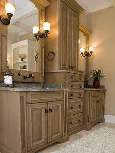 master bathroom cabinet remodel - Google Search