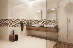 Drewno w geometrycznym wydaniu. Geometrica - Opoczno - płytki łazienkowe 25x75.