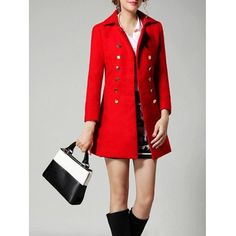 Just US$22.45 + free shipping, buy Red Double Breasted Wool A Line Coat online shopping at GearBest.com.