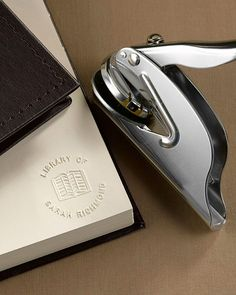 holiday gift guide for book lovers. This is a personalized book embosser. Want so bad