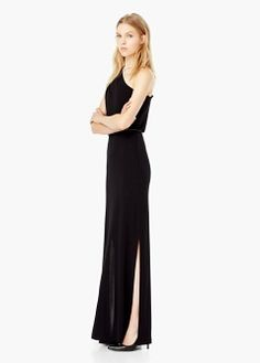Lange jurk met ceintuur