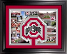 Ohio State Buckeyes Framed 11x14 Collage with Logo Cut Mat