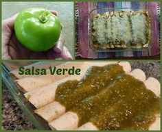 Not sure how to use a tomatillo? This recipe for salsa verde and chicken enchiladas will set you straight! | Fit Bottomed Eats