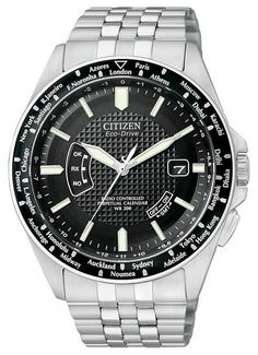 Citizen - Men's World Perpetual A-T Eco-Drive Watch - CB0020-50E  RRP: £299.00 Online price: £239.00 You Save: £60.00 (20%)  www.lingraywatches.co.uk