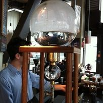 Discovered by Jason Karas: An iced coffee machine (only 32 drips per minute!) at Cafe Vita in Seattle, WA