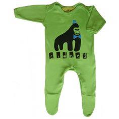 Personalised Gorilla Babygrow by Little Dandies