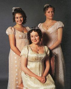 Pride and Prejudice 1995 - Lydia, Lizzie, and Jane Bennet.