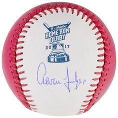 Aaron Judge New York Yankees Fanatics Authentic Autographed 2017 Pink Home Run Derby Moneyball Baseball