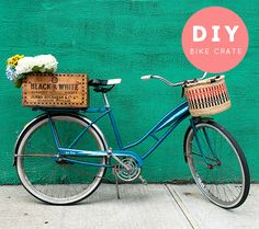 DIY Bike Porter Crate..I might consider taking up bike riding if I had one of these!