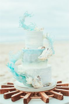 Oregon coastal styled shoot. Beach wedding cake.
