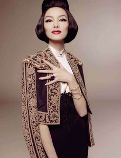 Fei Fei Sun photographed by Steven Meisel for Vogue Italia, January 2013.