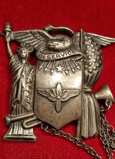 RARE Large WWII US Army Air Corps Sterling Silver Son in Service Sweetheart Pin | eBay