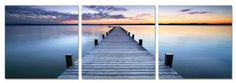 Amazon.com: Calmness. Contemporary Art, Modern Wall Decor, 3 Panel Wood Mounted Giclee Canvas Print, Ready to Hang A1175L: Home & Kitchen
