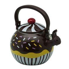 Supreme Housewares Whistling Tea Kettle Chocolate Cupcake in Home & Garden, Kitchen, Dining & Bar, Dinnerware & Serving Dishes   eBay