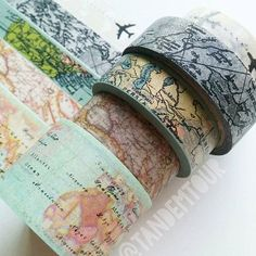 aaaahhhwww maps washi tape!