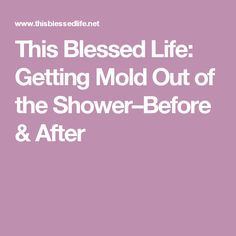 This Blessed Life: Getting Mold Out of the Shower–Before & After