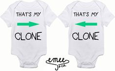 That's My Clone Sibling or Twin Set baby girl clothes baby boy clothes twin baby clothes