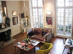 French fashion designer Christian Lacroix lived in this 2,150-square-foot apartment in the hip Marais district of Paris;