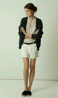 Steven Alan - wish I cud figure out when it's warm enough to wear shorts but cool enough to wear a cardigan with them