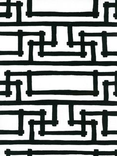 Yvan's Geometric from Florence Broadhurst via Signature Prints #fabric #black #white