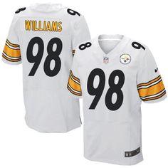 Nike Elite Vince Williams White Men's Jersey - Pittsburgh Steelers #98 NFL Road