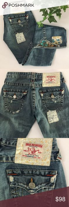 a22577faf 🌟HP🌟True Religion Woodstock Row Distressed Jeans Find your creative  expression I. Thee Limited Edition Woodstock boot cut jeans.