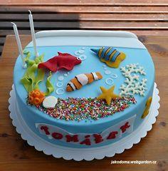 Cake decorating on pinterest army tank cake zoo cake for Fish tank cake designs