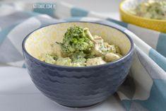 gotować! - Sałatka brokułowa z jajkiem i pieczarkami Guacamole, Mexican, Tableware, Ethnic Recipes, Kitchen, Food, Dinnerware, Cooking, Tablewares