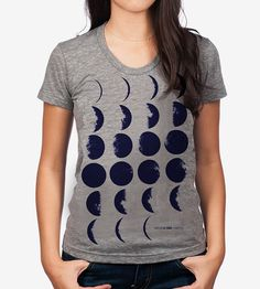 Women's Moon Phases T-Shirt by Fluffy Co.