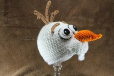 frozen inspired crochet | Inspired by Frozen Olaf Snowman Crochet Hat-- I NEED TO DO THIS