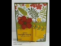 www.stampingwithlinda.com - Today's created fold is a pleated front card. - https://youtu.be/PbGlRwmaCAY