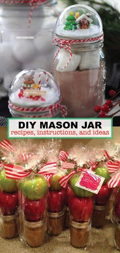 christmas crafts for gifts - christmas crafts ; christmas crafts for kids to make ; christmas crafts for kids ; christmas crafts for toddlers ; christmas crafts for gifts ; christmas crafts to sell ; christmas crafts for adults Pot Mason, Mason Jar Meals, Meals In A Jar, Navidad Simple, Navidad Diy, Uses For Mason Jars, Mason Jar Diy, Candy Mason Jars, Gifts In Mason Jars