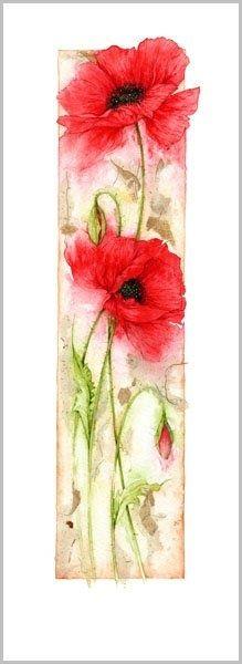 Jan Harbon #watercolour poppies