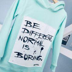 Normal Is Boring. Normal Is Boring, Hoodies, Sweatshirts, Kids Fashion, Graphic Sweatshirt, Sweaters, Parka, Trainers, Sweater