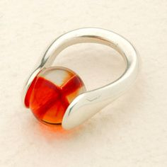 Fancy Lotus Ring  - Interchangeable Silver Jewelry - incl. 30 translucent & opaque Marbles!! -  ReginasDreamCreation, $118.50