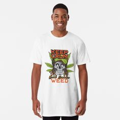 'Agry Wee haggis' Long T-Shirt by grantspics T Shirt Fun, My T Shirt, Biker T Shirts, Tee Shirts, Weed, Mask For Kids, Large Prints, Cute Fashion, Tshirt Colors