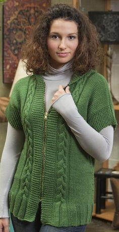 Annie Hooded Vest via Craftsy Knit Fashion, 70s Fashion, Modest Fashion, Winter Fashion, Fashion Tips, Fashion Essentials, Vintage Fashion, Baby Hats Knitting, Baby Knitting Patterns