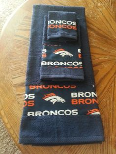 Hey, I found this really awesome Etsy listing at https://www.etsy.com/listing/167918730/denver-bronco-nfl-bath-towel-sets-all