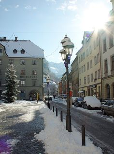 Feldkirch, Austria on our Honeymoon Oh The Places You'll Go, Places To Travel, Places Ive Been, Creative Inspiration, Travel Inspiration, Feldkirch, Austria Travel, Street Lamp, Holiday Travel