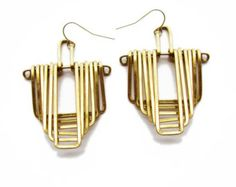 Geometric Earrings Falling Temple Reversed by JamieSpinello