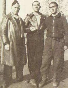 Spain - 1937. - GC - Miguel Hernández con Antonio Aparicio y Juan Arroyo, en Barcelona. Enero del 37.
