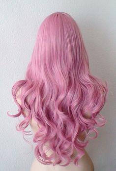 Peluca de Blush rosa pastel. Peluca rosa malva. Pastel por kekeshop